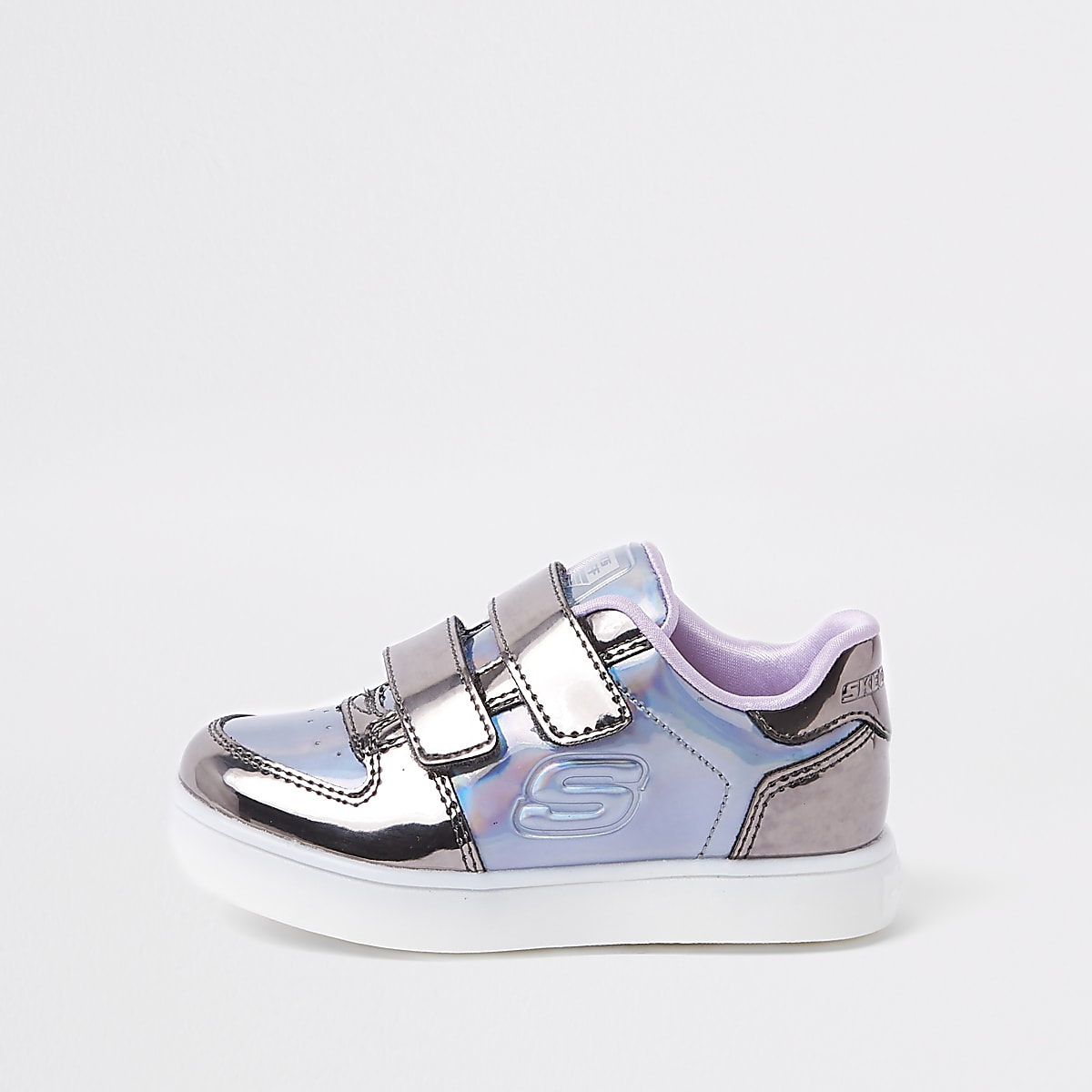 0e445b46822c Mini girls Skechers purple light-up trainers - Baby Girls Trainers - Baby  Girls Shoes   Boots - Mini Girls - girls