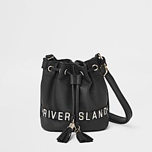 Schwarze, kleine Duffle-Tasche