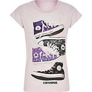 Girls Converse pink chucks T-shirt