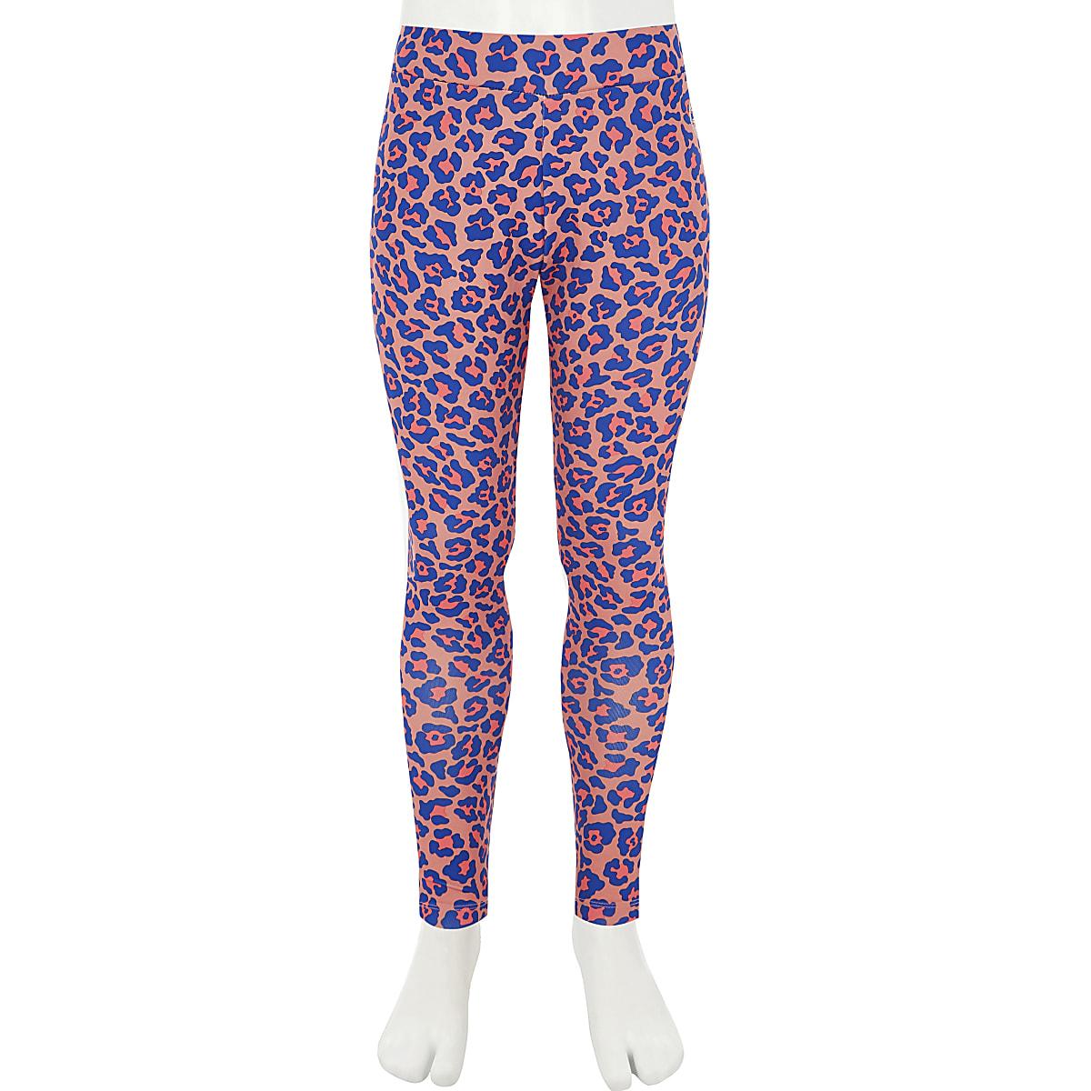 c4bc833167d88 Girls Converse pink leopard print leggings - Leggings - girls