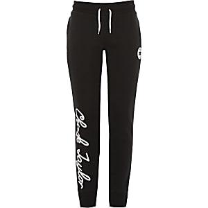 Converse – Pantalon de jogging «Chuck Taylor» noir pour fille