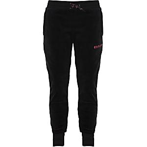 Converse - Zwarte joggingbroek van velours voor meisjes