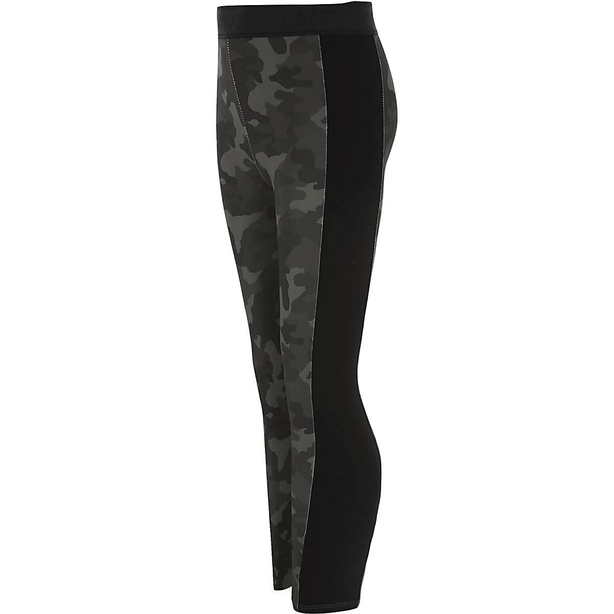 Girls RI Active khaki camo print leggings