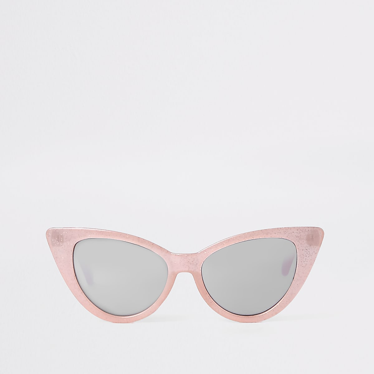 Girls pink glitter cat eye sunglasses