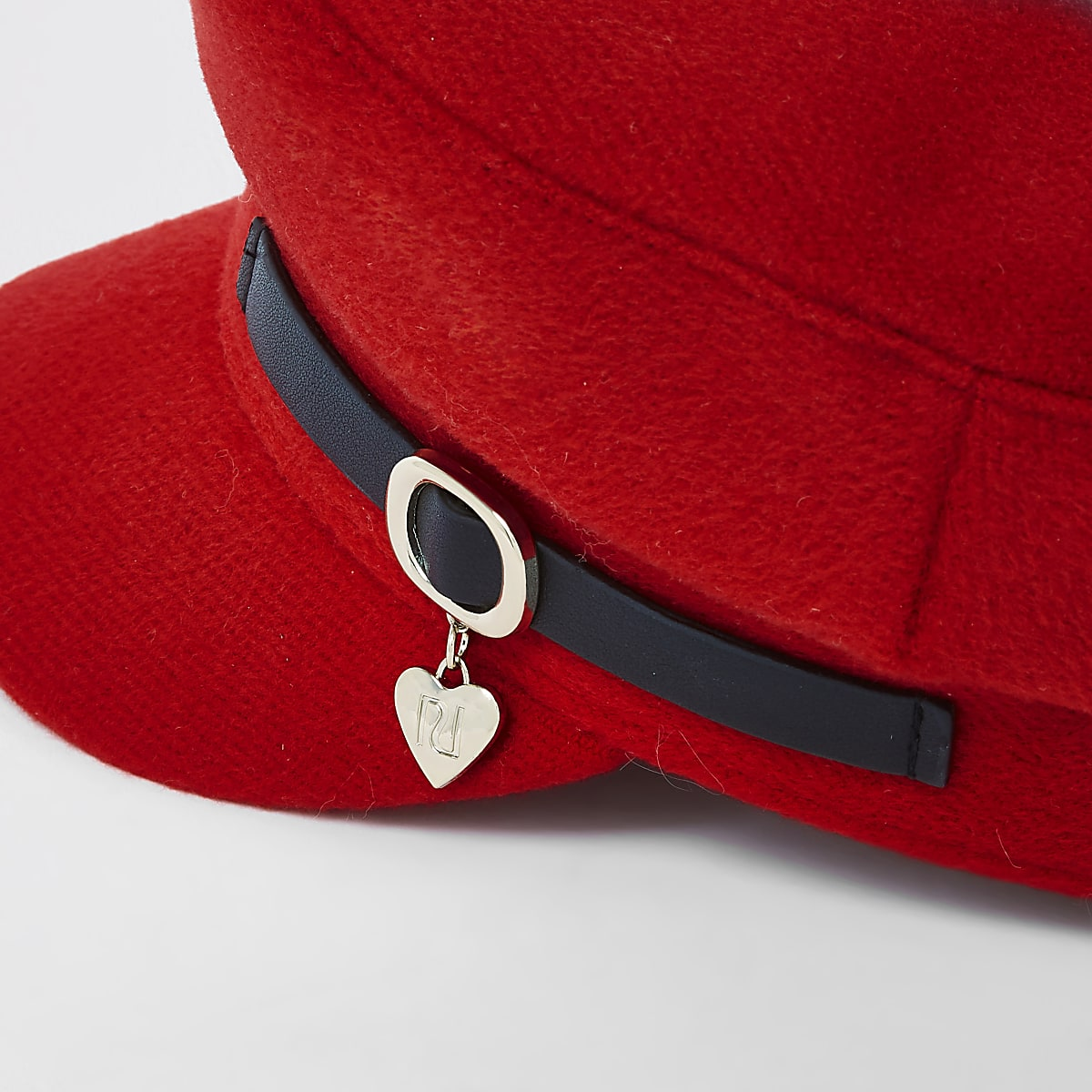 outlet store sale excellent quality store Girls red charm baker boy hat