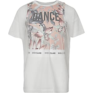 Girls RI Active pink mesh layer T-shirt