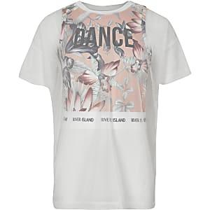RI Active – T-shirt rose à superposition en maille pour fille