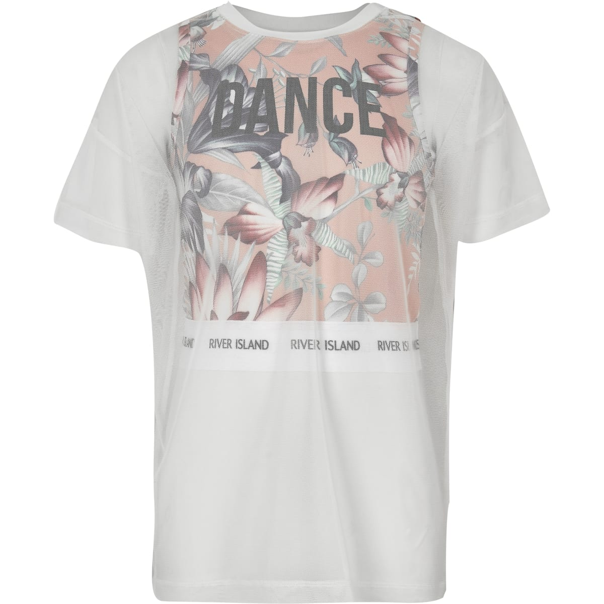 Girls RI Active pink mesh layer T-shirt