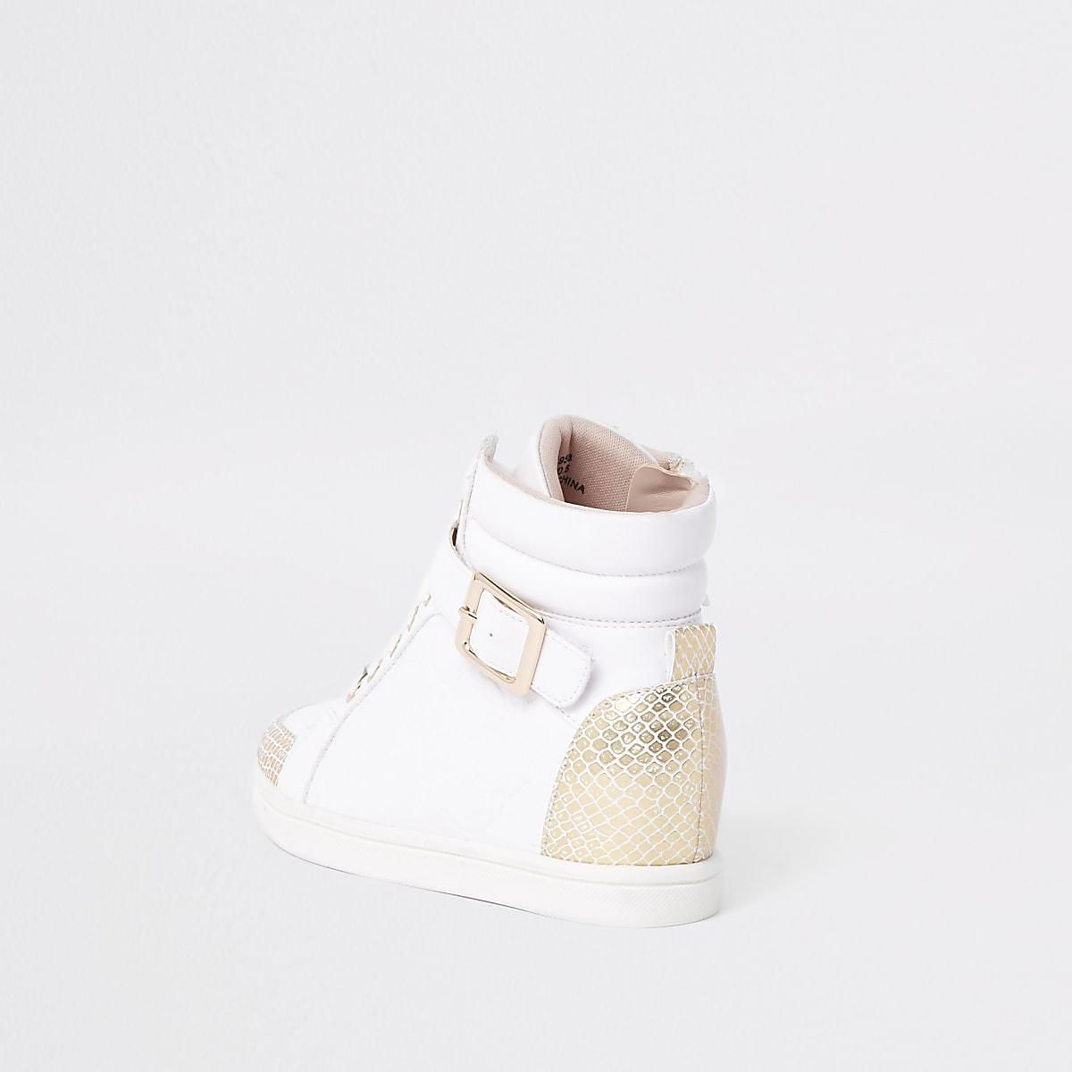 c2d05b179 Girls white high top RI monogram trainers - Trainers - Footwear - girls