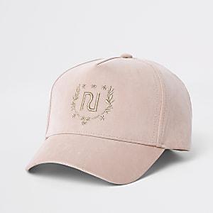 Casquette rose avec badge RI mini fille