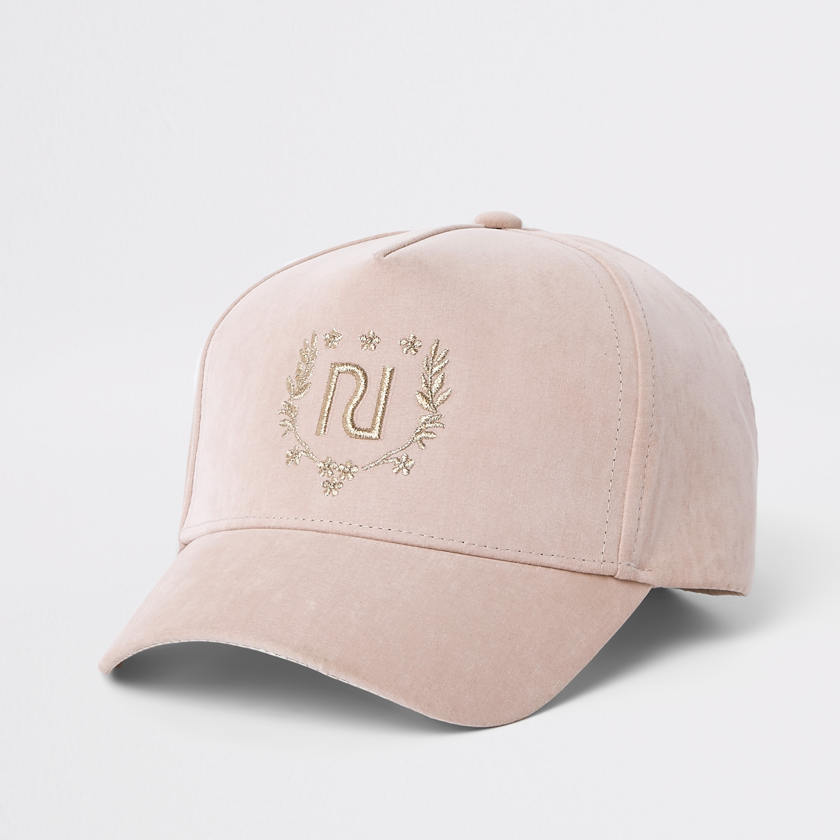 RIVER ISLAND | Mini girls Pink RI crest cap | Goxip