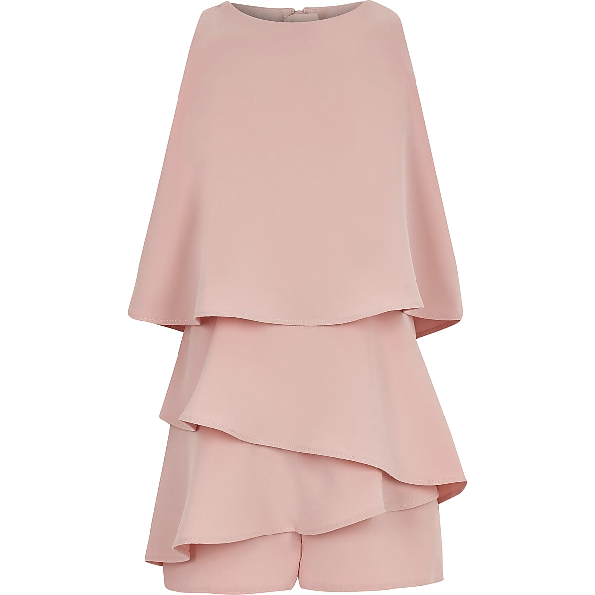 Girls pink skort frill playsuit