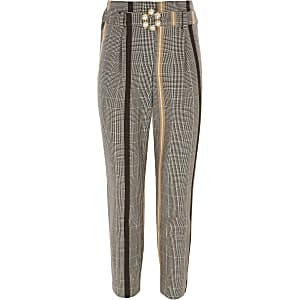 Girls yellow check pants