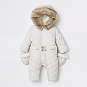 Baby cream RI padded snowsuit
