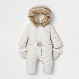 Combinaison de ski matelassée RI crème pour bébé