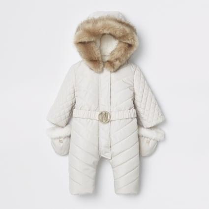 Baby cream RI padded snowsuit