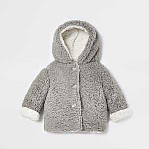 Graue Borg-Jacke aus Fleece