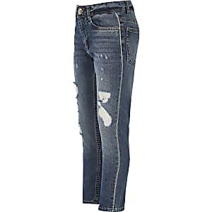 Bella - Blauwe jeans met diamantjes voor meisjes