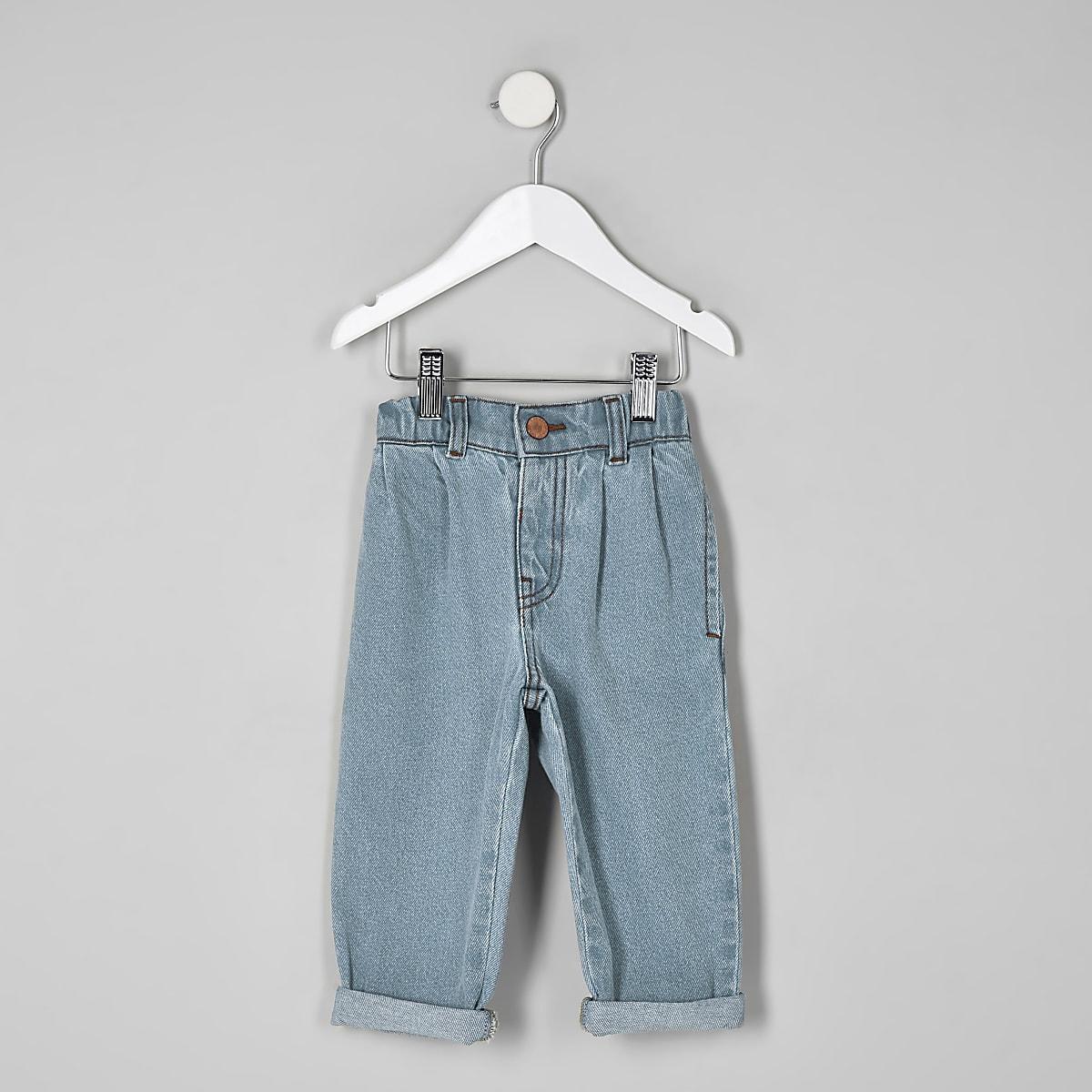 Mini girls blue mom fit jeans