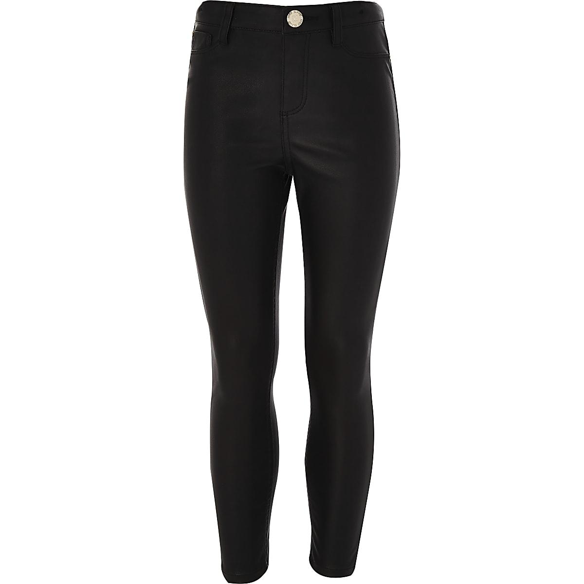 cf84d4bfa7f0 Girls black PU trouser - Skinny Jeans - Jeans - girls