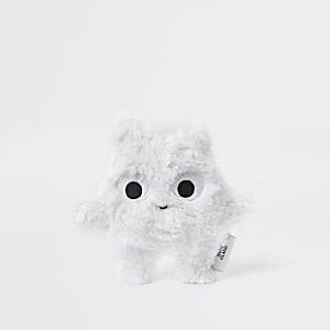 Wit speeltje van imitatiebont voor baby's