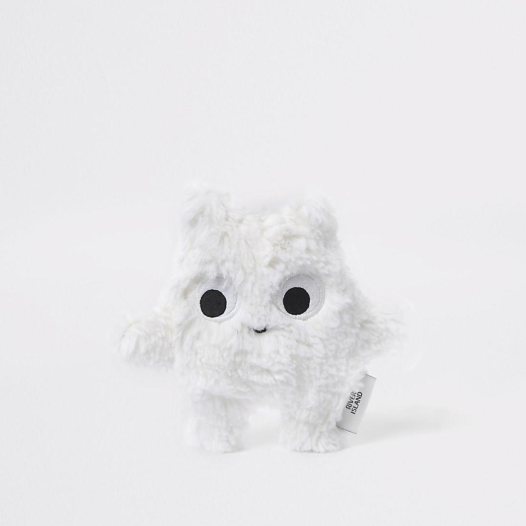 Baby white faux fur toy