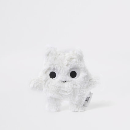 Baby white faux fur toy