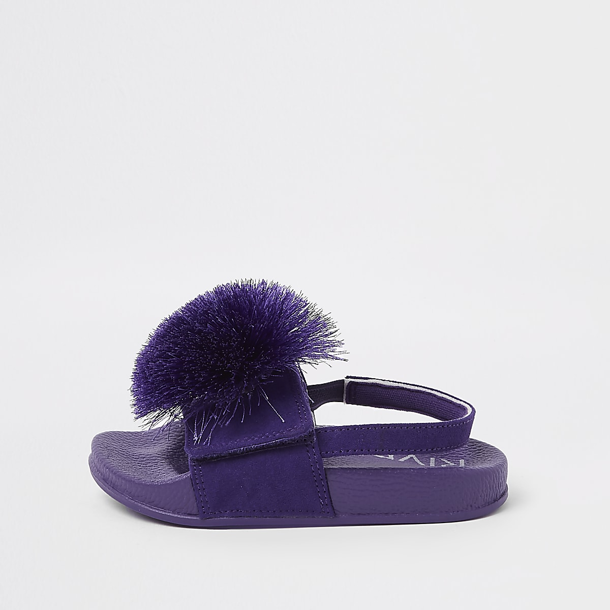 75001dbaf0ed Mini girls purple pom pom sliders - Baby Girls Sandals - Baby Girls Shoes    Boots - Mini Girls - girls