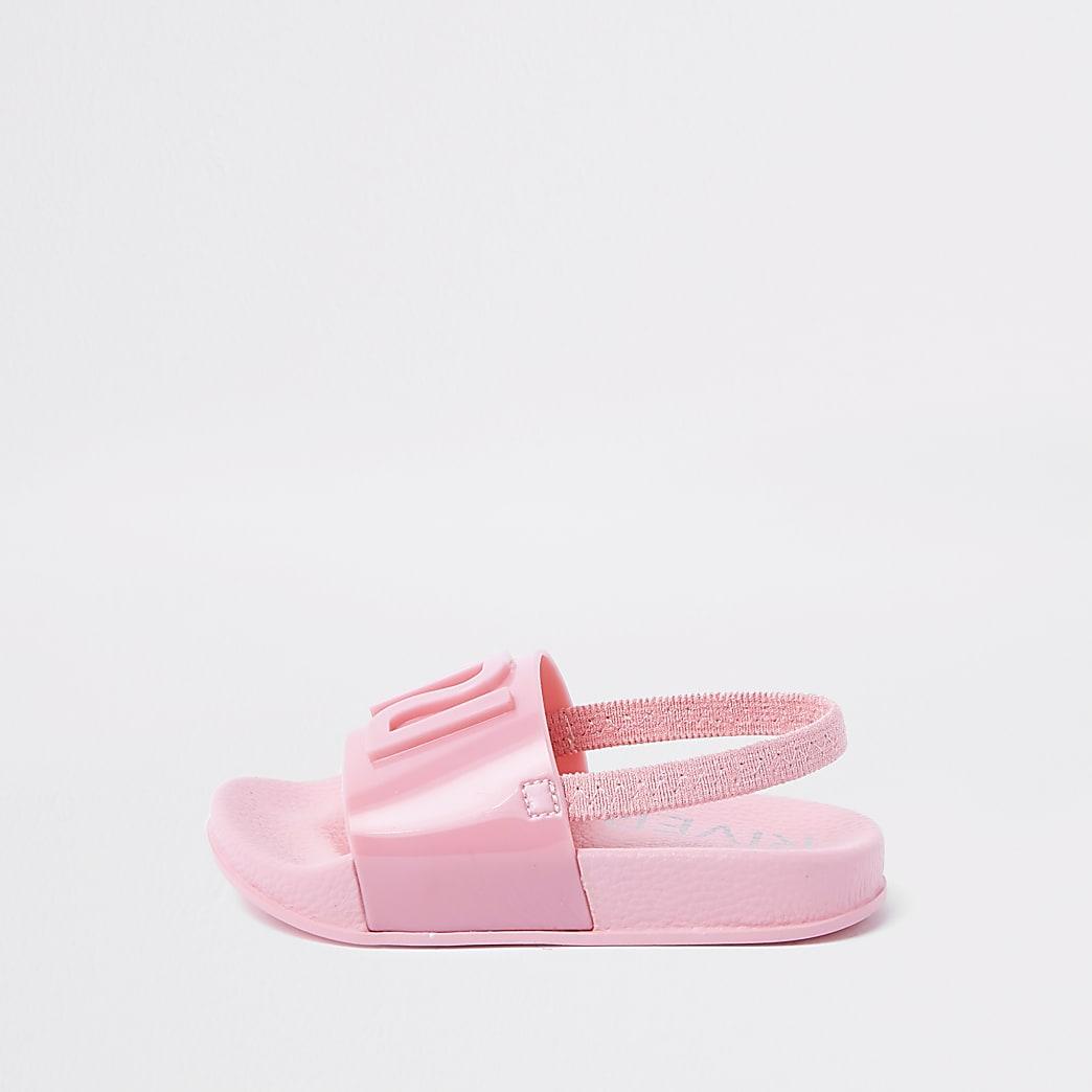 Mini girls pink RI jelly sliders