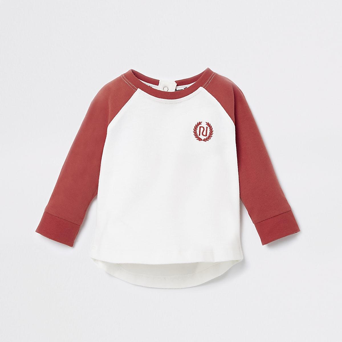 Baby red RI long sleeve T-shirt
