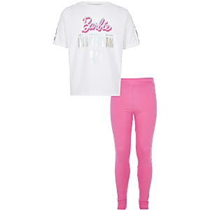 Pyjama Barbie rose pour fille