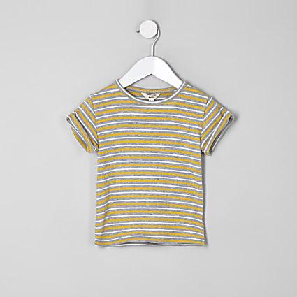 Mini girls yellow stripe T-shirt