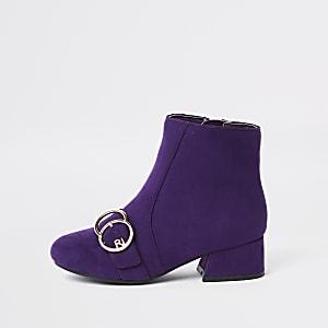 Girls purple double circle RI boots