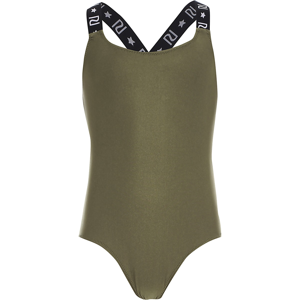 Girls khaki RI swimsuit
