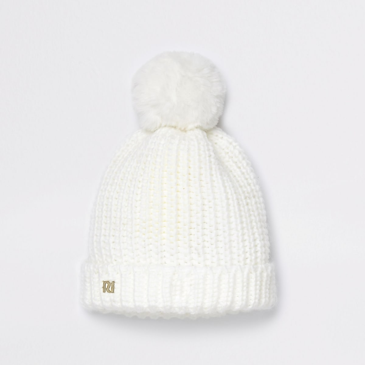 11b093a3831 Baby cream knitted bobble hat - Baby Girls Accessories - Mini Girls - girls