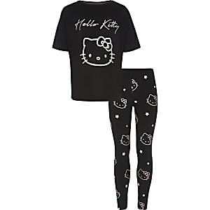 Hello Kitty – Pyjama noir pour fille