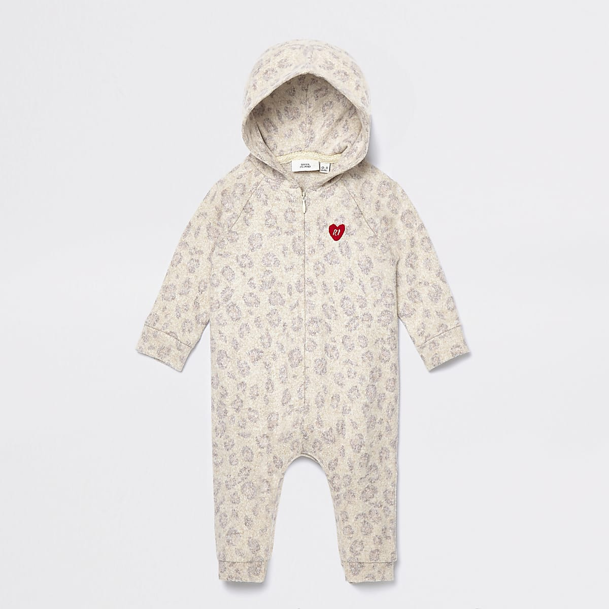 Baby brown leopard print cosy all in one