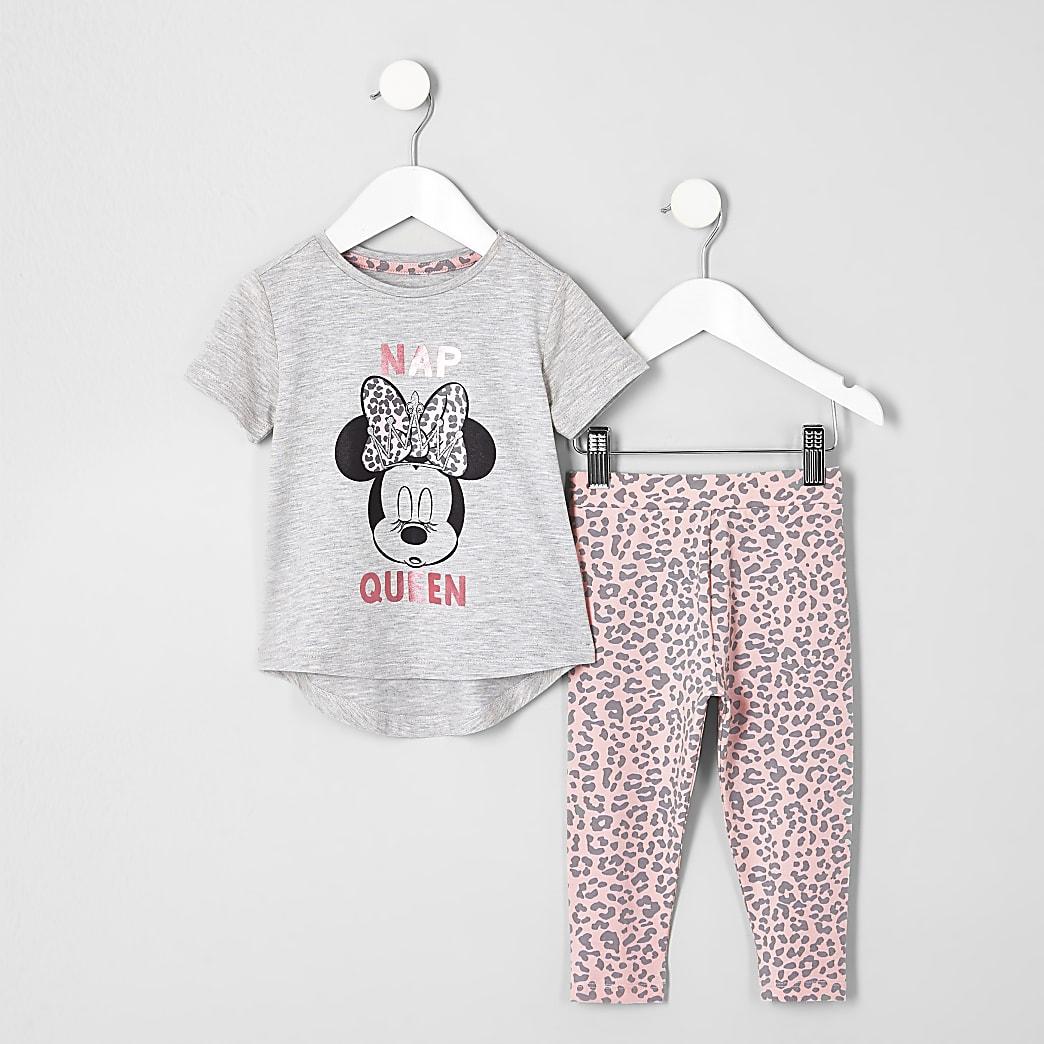 Mini - Roze pyjamaset met Minnie Mouse-print voor meisjes
