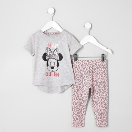 Mini girls pink Minnie Mouse pyjama set