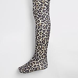 Collants à imprimé léopard fille