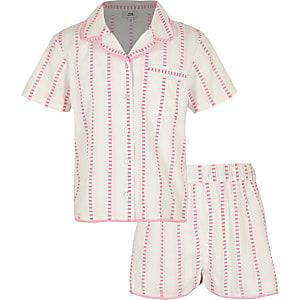 Pinker, gestreifter Pyjama