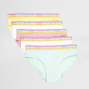 Lot de slips rose pastel pour fille