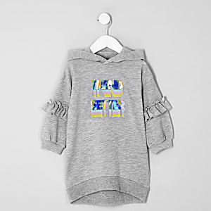 Mini girls grey 'Trend setter' jumper dress
