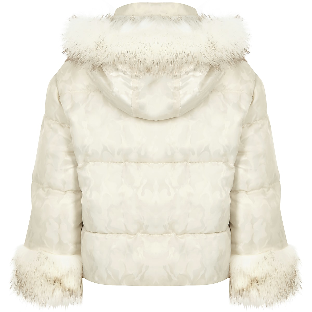 1a262d8dd0ba2 Girls white camo faux fur puffer jacket - Jackets - Coats & Jackets ...