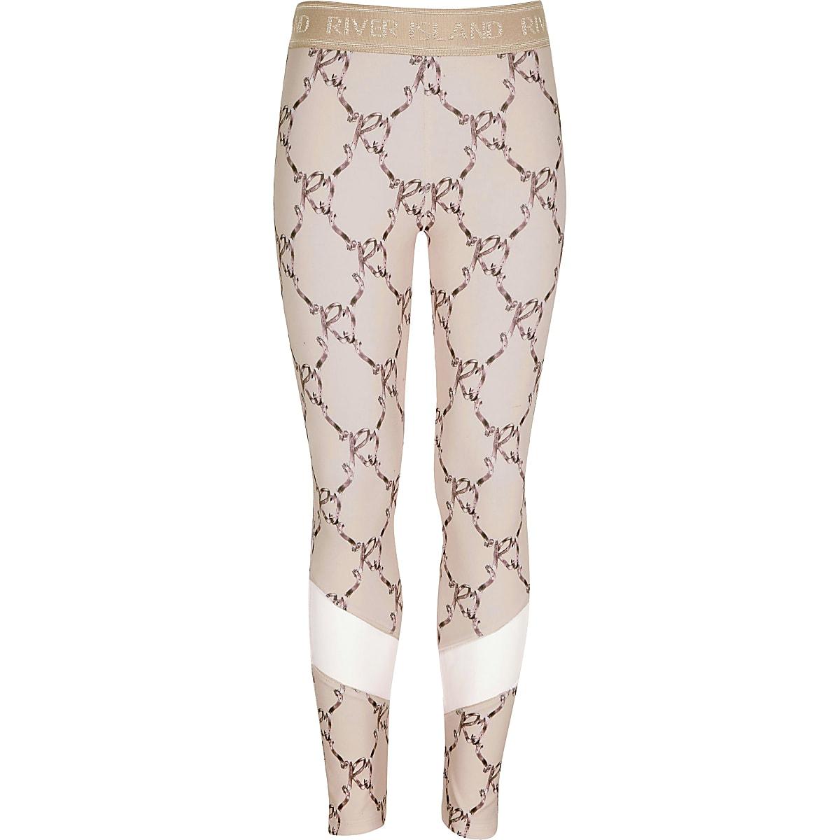 Girls RI Active pink bow leggings