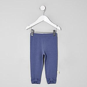 Mini - Marineblauwe legging met strik voor meisjes