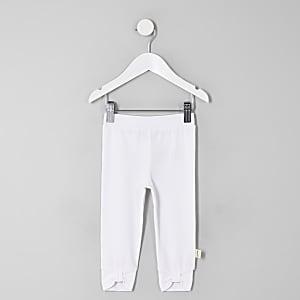 Mini - Witte legging met strik voor meisjes