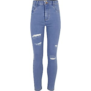 comment commander original top design Jeans fille | Jeans déchirés pour fille | River Island