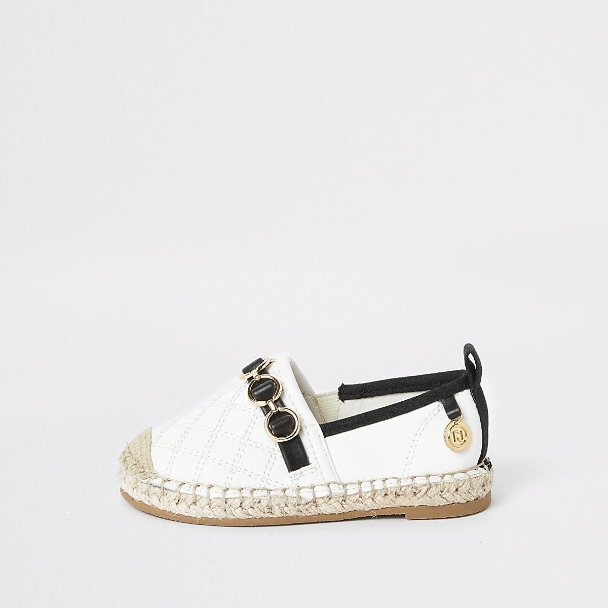 Mini girls white espadrille plimsolls