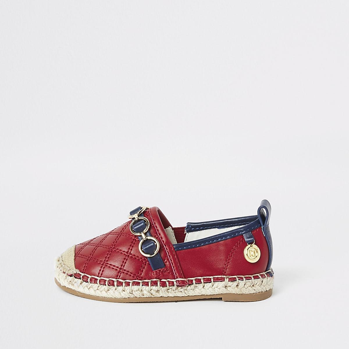 9edb3ddd1dd85 Tennis rouges style espadrilles pour mini fille - Sandales pour bébé ...